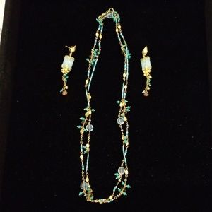 Azaara necklace and earrings